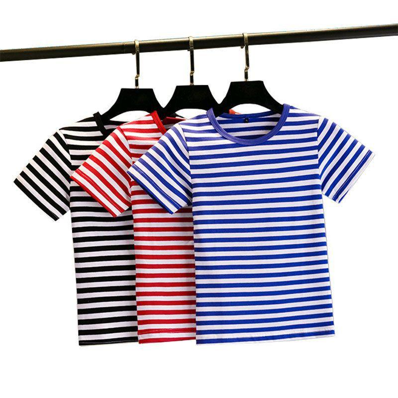 Áo Thun Cho Bé 100% Cotton Co Giãn 4 Chiều Siêu Mềm Mát, Áo Cộc Tay Trẻ Em Kẻ Ngang