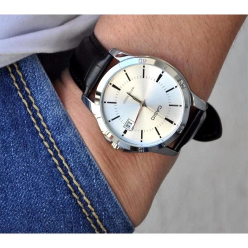 Đồng hồ nam dây da Casio chính hãng Anh Khuê MTP-V004L-7AUDF
