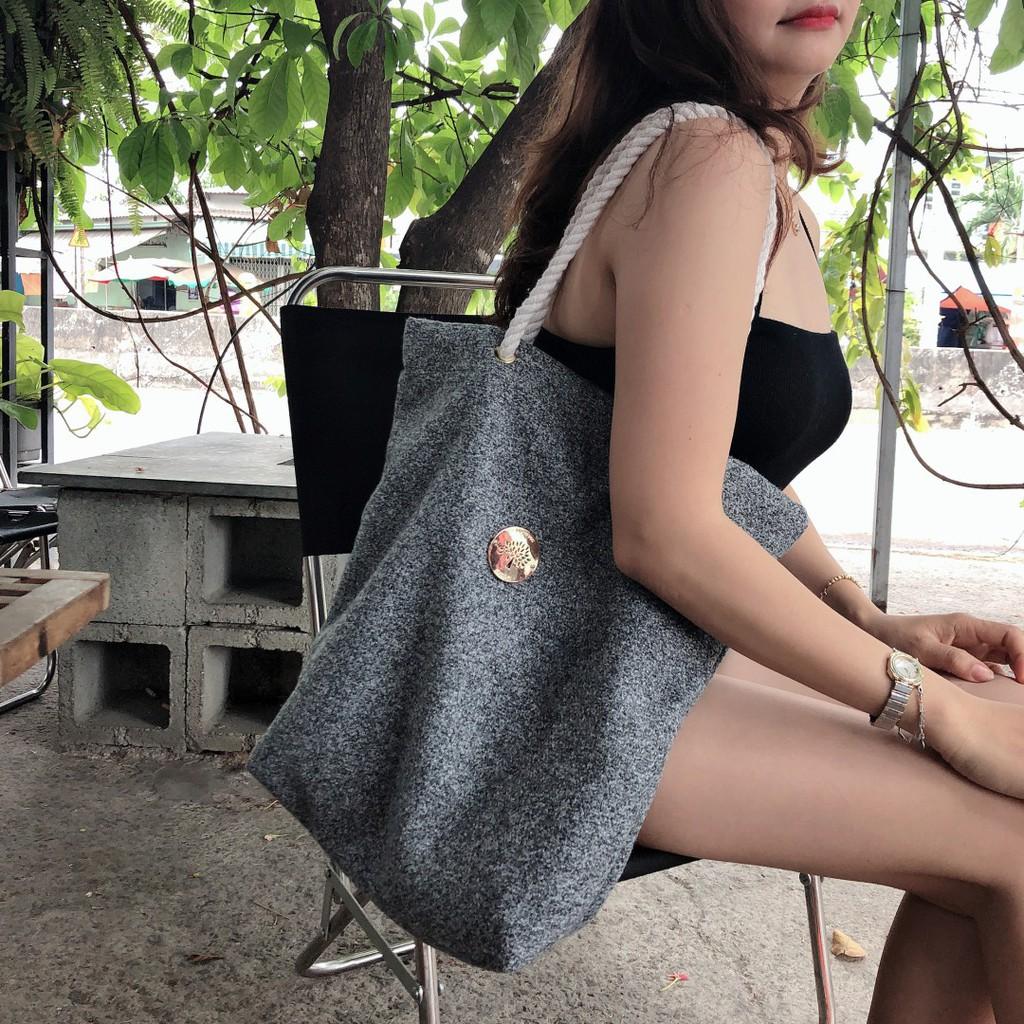 Túi xách tay nữ đựng được giấy A4, laptop, máy tính bảng, hoa văn tự nhiên, thiết kế đơn giản (Nhiều màu để chọn)