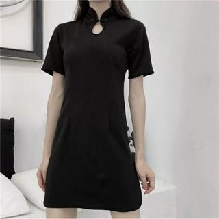 Đầm sườn xám đen kiểu cá tính 40-70kg