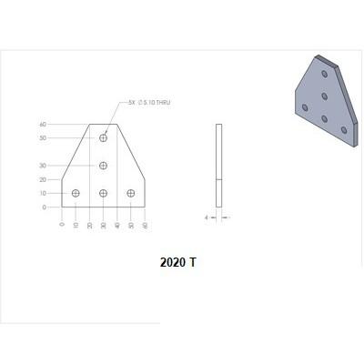 Pad nối góc cho nhôm định hình 2020 3030