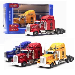 Mô hình đầu xe kéo container bằng sắt đồ chơi trẻ em mô hình tỉ lệ 1:42