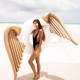 Phao bơi khổng lồ cánh thiên thần gorl kèm bơm điện