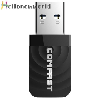 Hellonewworld COMFAST USB A Wireless Network Card 1300Mbps WiFi Dongle Adapter 802.11 b/g/n