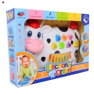 Đồ chơi đàn piano hình chú bò sữa cho bé xanh SẢN PHẨM HOT