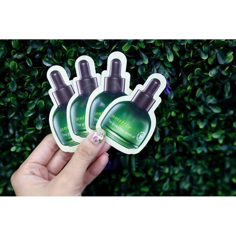 COMBO 10 VIÊN Sample Tinh dầu trà xanh Innisfree The Green Tea Seed Oil