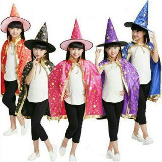Bộ Áo choàng và nón phù thủy hóa trang Halloween