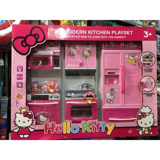 8922-4 Đồ chơi nhà bếp Hello Kitty, lắp pin phát âm thanh, có đèn – đồ chơi đồ hàng.