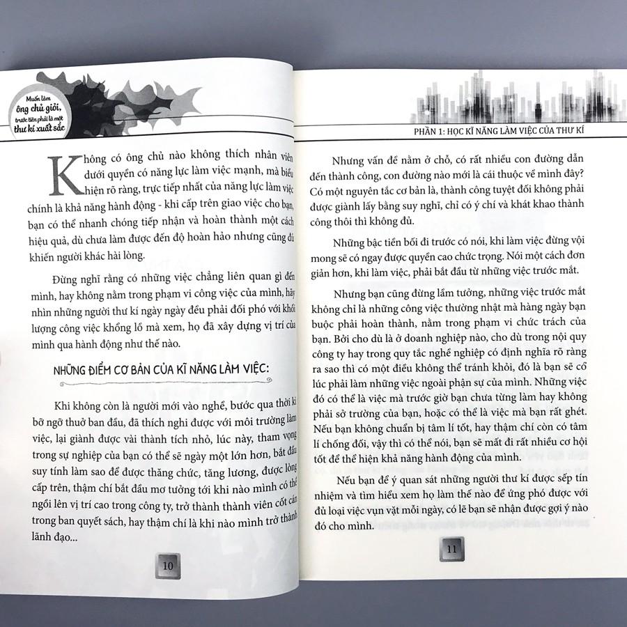 Sách - Muốn Làm Ông Chủ Giỏi Trước Tiên Phải Là Một Thư Kí Xuất Sắc (Kèm Bookmark)