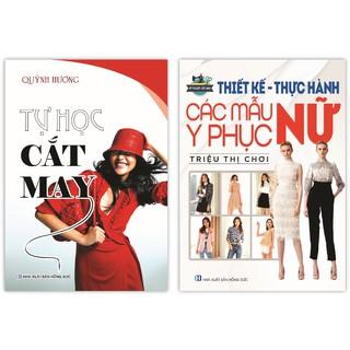 Sách - Tự Học Cắt May + Thiết Kế -Thực Hành Các Mẫu Y Phục Nữ (Bộ 2 Cuốn) thumbnail