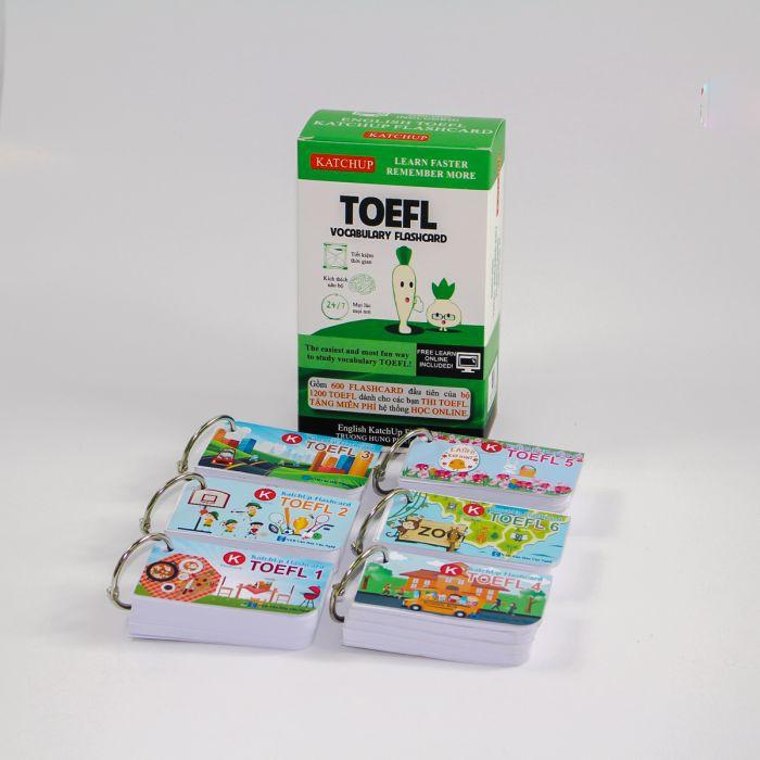 Combo Trọn Bộ KatchUp Flashcard TOEFL - High Quality - Trắng (C02T)
