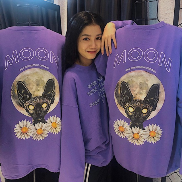 Moon cat áo sweater