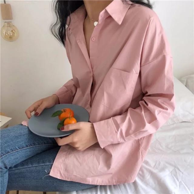 Áo sơ mi hồng Pinky shirt