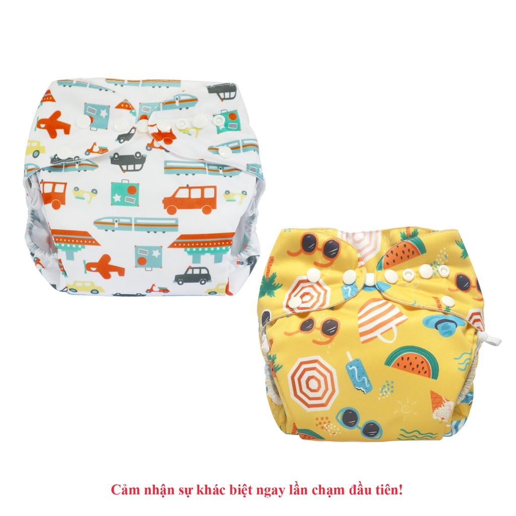 Combo 2 bộ tã vải Đêm Siêu chống tràn BabyCute size XL (24-40kg) - Giao mẫu ngẫu