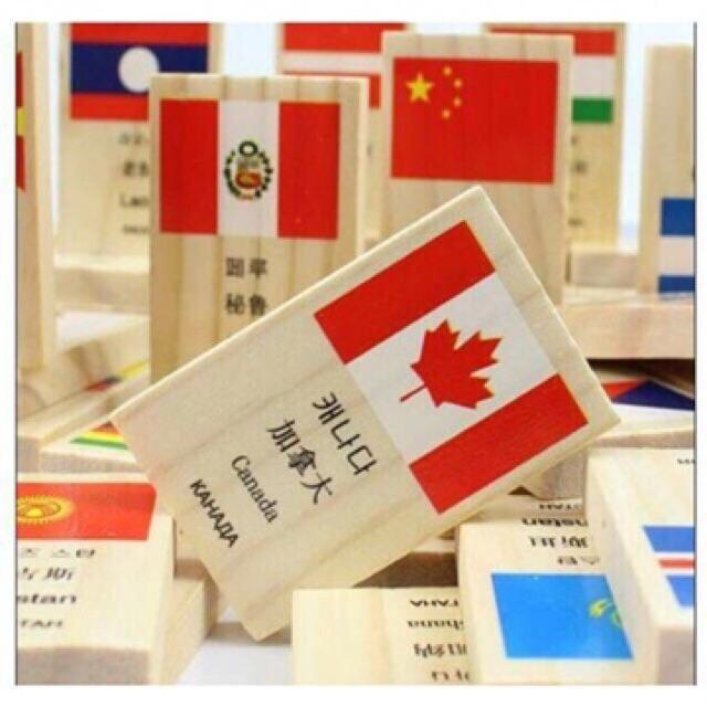 Bộ domino 100 cờ gỗ