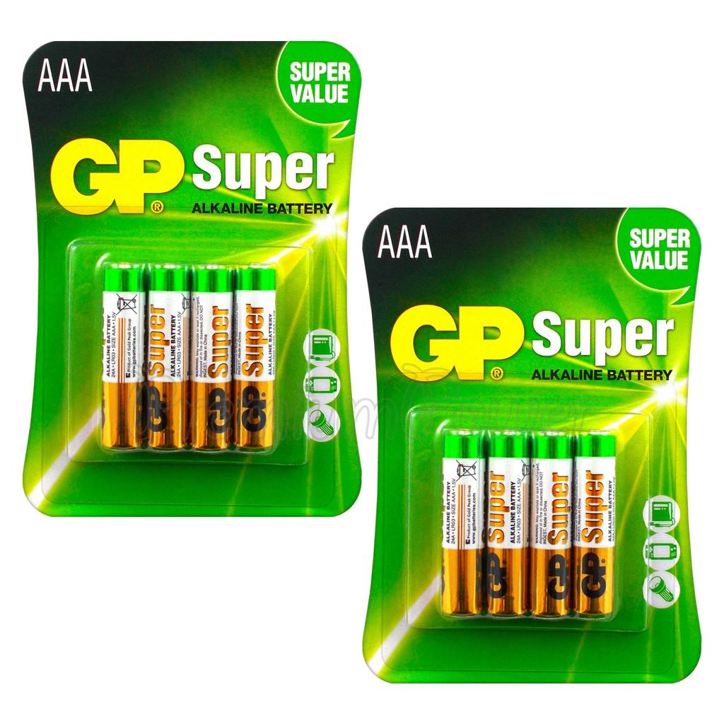 Pin tiểu GP Batteries Super Alkaline AAA GP24A-2U4 ( vỉ 4 viên AAA)