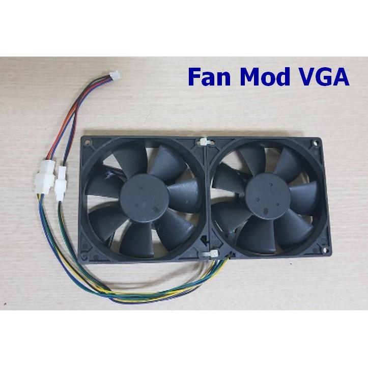 Fan server Mod VGA 9cm x 0.6A (dùng để mod fan cho VGA)