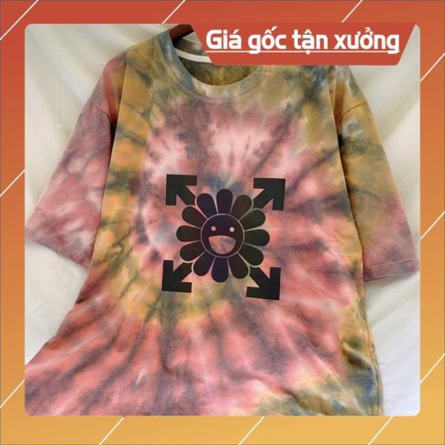Áo Hoa KiKi Kaikai Phản Quang TieDye Loang Màu siêu xinh HOT