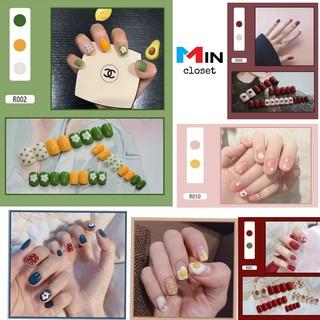 [FREESHIP] Bộ 24 móng tay giả họa tiết xinh xắn chống thấm nước thumbnail