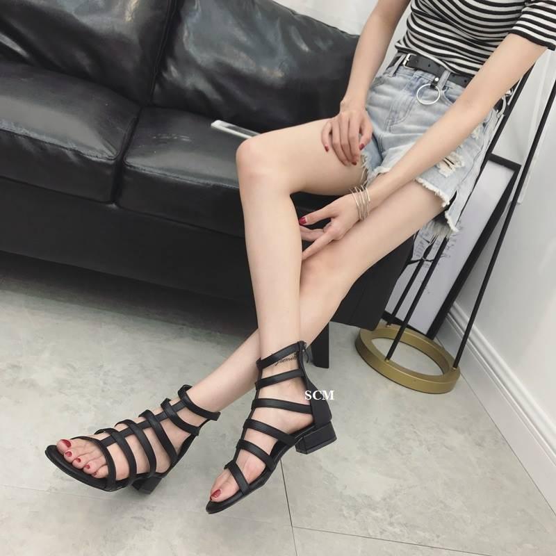 Giày gót vuông chiến binh 02 | giày sandal chiến binh nữ