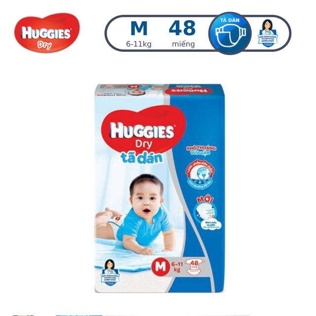 Tã dán Huggies Dry Jumbo M48/L42/XL38/XXL30