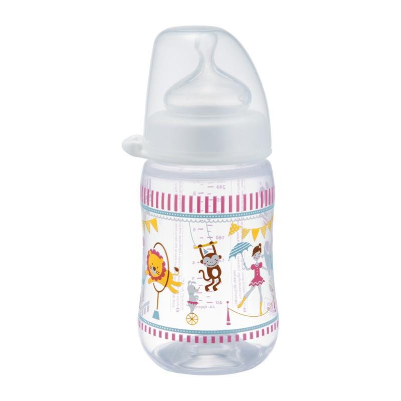 Bình sữa NIP PP cổ rộng 260 ml hình xiếc cho bé gái, núm ti chỉnh nha, chống sặc, bằng silicon, cỡ q - 2814862 , 453374824 , 322_453374824 , 158000 , Binh-sua-NIP-PP-co-rong-260-ml-hinh-xiec-cho-be-gai-num-ti-chinh-nha-chong-sac-bang-silicon-co-q-322_453374824 , shopee.vn , Bình sữa NIP PP cổ rộng 260 ml hình xiếc cho bé gái, núm ti chỉnh nha, chống s