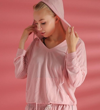 Áo Thun Thể Thao Dài Tay Có Mũ Năng Động Thời Trang Dành Cho Nữ