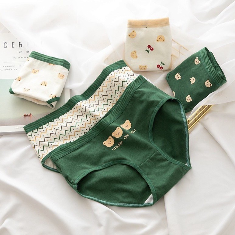 [CHE TÊN 100%] Quần Chíp Gấu Xanh 19 Quần Lót Nữ Cute Cotton Quảng Châu Cao Cấp Sexy Xịn Đẹp Lamodu Shop