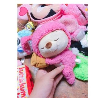 Gấu bông Pooh cosplay gấu hồng