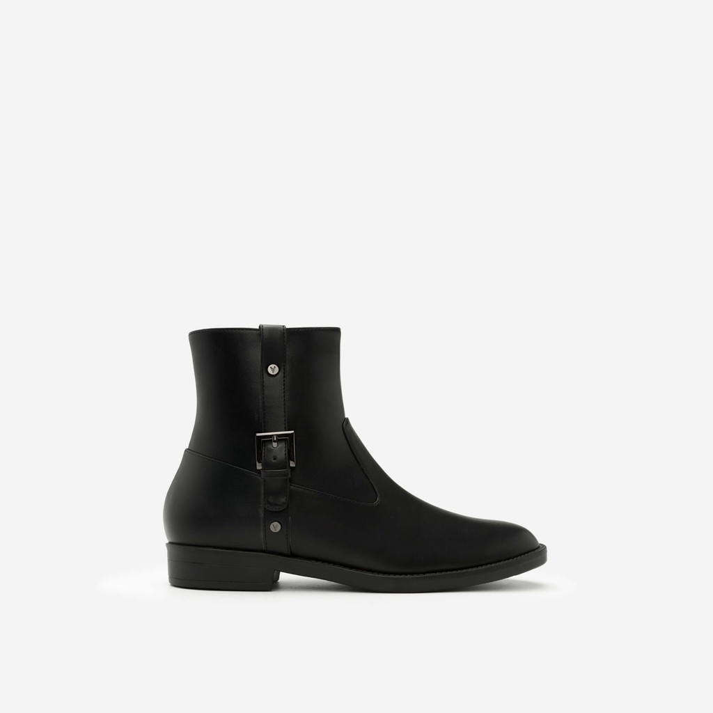 Vascara - Giày Boots Phối Belt - BOT 0881 - Màu Đen - Vascara