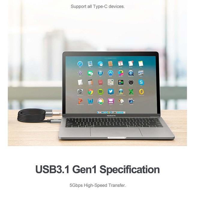 [Mã 267ELSALE hoàn 7% đơn 300K] Cáp macbook TYPE-C NỐI DÀI 5M UNITEK U305AGY