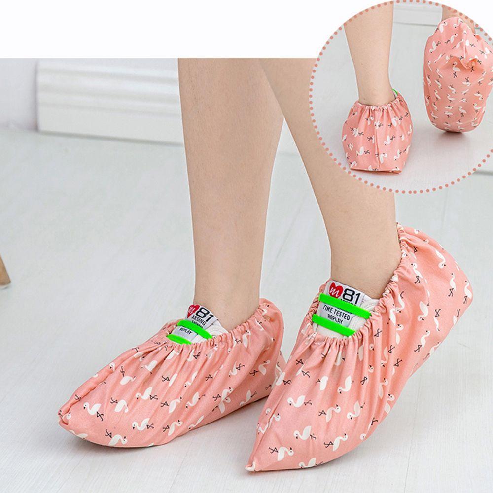 Antiskid Flamingo Room Overshoes Dust Proof Shoe Cover