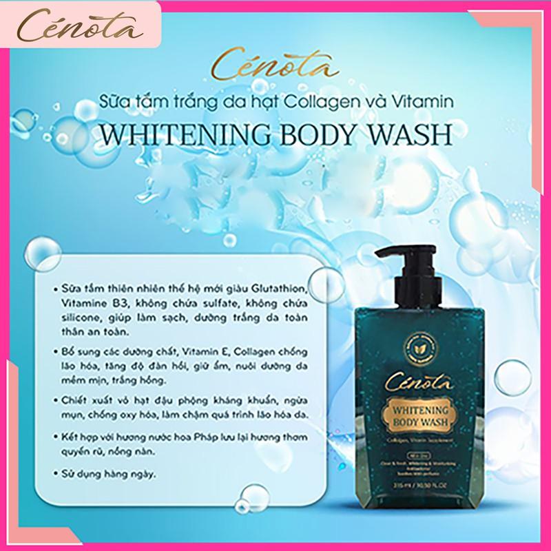 Sữa tắm trắng da hạt Collagen và Vitamin Whitening Body Wash, sữa tắm dưỡng ẩm Mã C01
