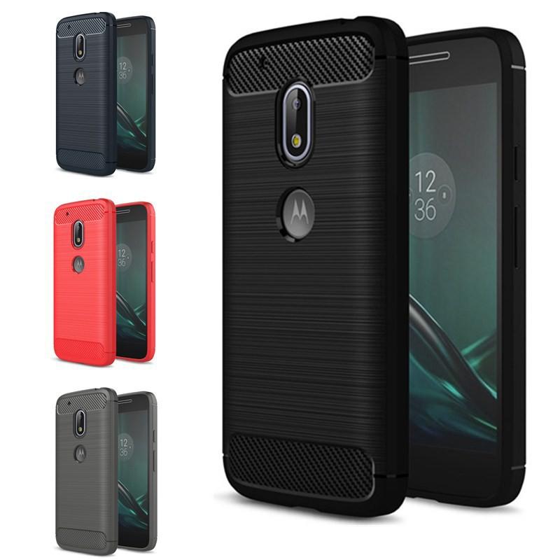 Ốp điện thoại silicon sang trọng chống sốc cho Motorola Moto G4 Play