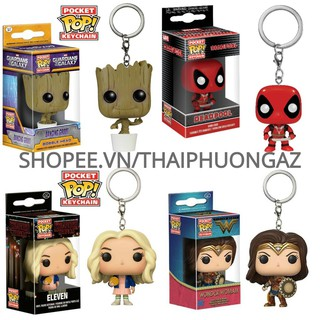 [CÓ SẴN] Móc Khóa Funko Pop Keychain Iron Man Spider-Man Thor Hulk Captain Batman Black Panther Wonder Woman Groot