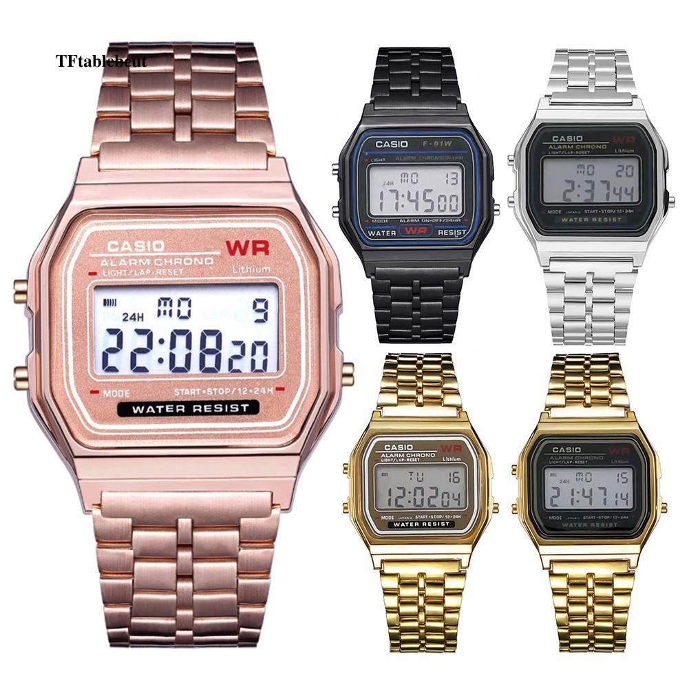 Đồng hồ điện tử mặt vuông