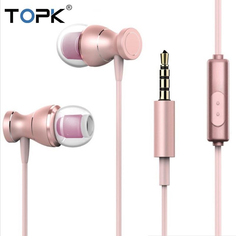 Tai Nghe TOPK F18 Với Giắc 3.5mm Tích Hợp Micro Thông Dụng Dành Cho Iphone/Android