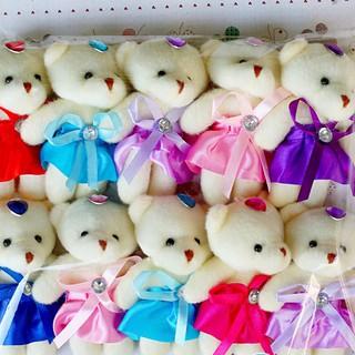 Combo 10 con gấu nữ mặc váy xinh xắn đủ màu 10 cm