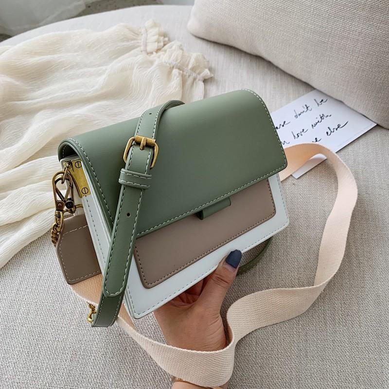 Túi Xách Nữ Phối Màu Trẻ Trung Phong Cách Hàn Quốc D9604