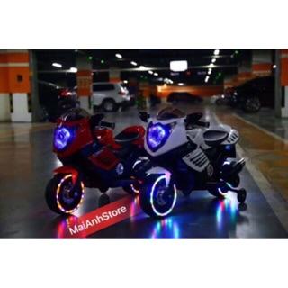 [Nhập mã APTOYFAIR giảm 20K khi thanh toán qua Airpay]Xe máy điện nhạc + đèn + led bánh xe ( mã 01 )
