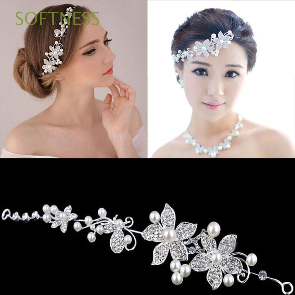 SOFTNESS Fashion Women Wedding Party Rhinestones Trinket Hairband