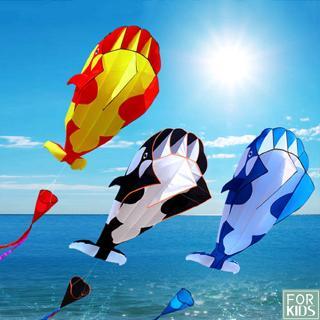 3D Whale Shape Kite Flying Outdoor Toys Kid Adults Children Kite Flying Toys