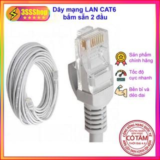 Dây mạng LAN CAT6 bấm sẵn 2 đầu 10m 20m 30m 50m lõi đồng hàng chất lượng tốt thumbnail