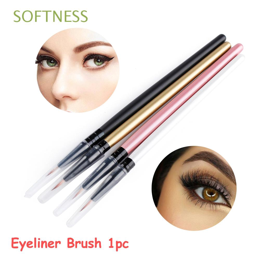 SOFTNESS Wooden handle NEW Cosmetic Beauty Makeup Eyeliner Brush