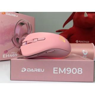 Chuột Gaming DAREU EM908 QUEEN PINK Led RGB – Chuột Game Có Dây Màu Hồng hàng Chính Hãng
