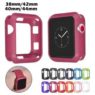 Ốp Silicone Mềm Bảo Vệ Cho Đồng Hồ Thông Minh Apple Watch 38mm 42mm 40mm 44mm series 6 SE 5 4 3 2 1