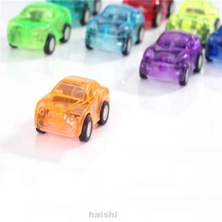 10pcs Toy Car Mini Pull Back Baby Cartoon Kids Truck Children Racing Bus Gifts Plastic Random Color