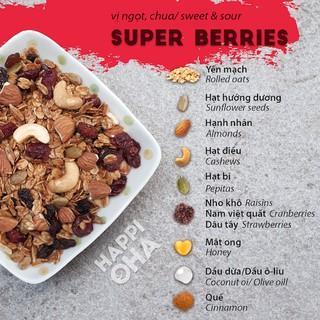 Granola SuperBerries Ngũ cốc không đường (yến mạch, hạnh nhân, hạt