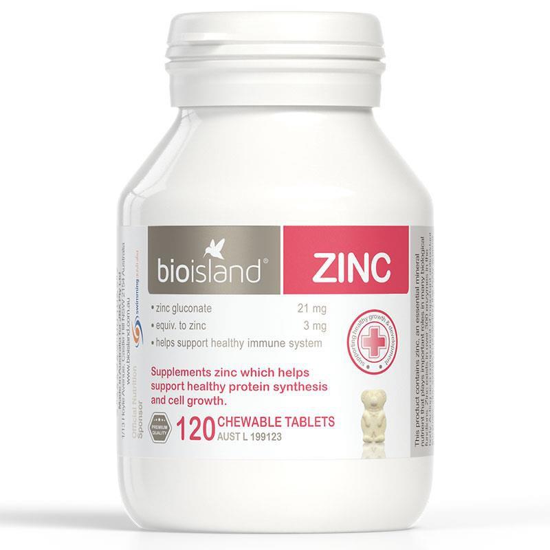 Viên nhai Bio Island Zinc Úc bổ sung kẽm cho bé 120 viên/hộp