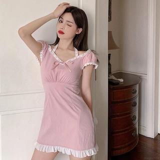 Đầm tay phồng ngắn phối ren thời trang mùa hè cho bé gái